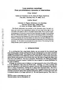 Loop quantum cosmology: From pre-inflationary dynamics to ...