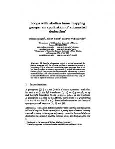 Loops with abelian inner mapping groups: an ... - Semantic Scholar