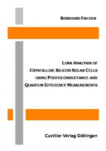 Loss Analysis of Crystalline Silicon Solar Cells using