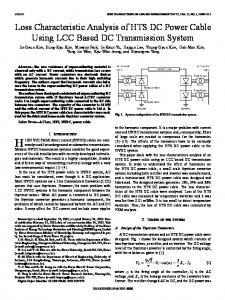 Loss Characteristic Analysis of HTS DC Power Cable ... - IEEE Xplore