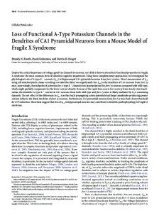 Loss of Functional A-Type Potassium Channels in the Dendrites of ...