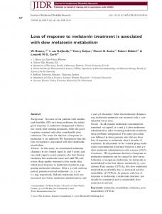 Loss of response to melatonin treatment is ... - Wiley Online Library