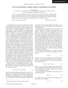 Loss of synchronization in coupled oscillators with ubiquitous local ...