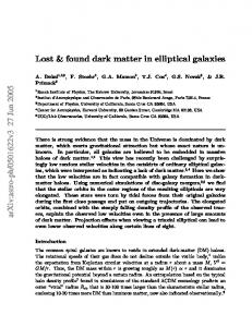Lost & Found Dark Matter in Elliptical Galaxies