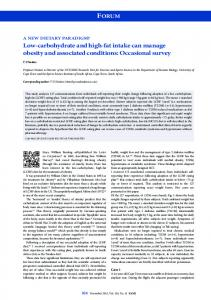 Low-carbohydrate and high-fat intake can manage ... - Semantic Scholar