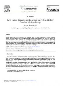 Low-carbon Technologies Integrated Innovation ... - Science Direct