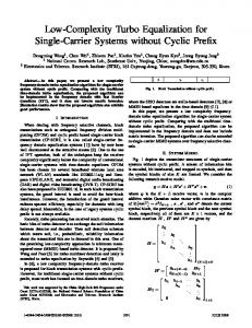 Low-Complexity Turbo Equalization for Single-Carrier ... - IEEE Xplore
