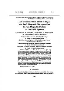Low Concentration Effect of Fe3O4 and Fe3C Magnetic Nanoparticles ...