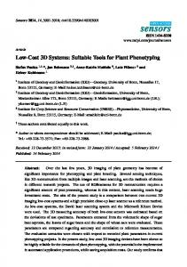 Low-Cost 3D Systems: Suitable Tools for Plant Phenotyping - MDPI
