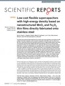 Low-cost flexible supercapacitors with high-energy density ... - CSIC