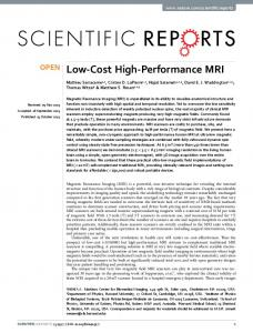 Low-Cost High-Performance MRI