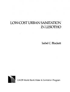 Low-cost Urban Sanitation in Lesotho - Water and Sanitation Program ...