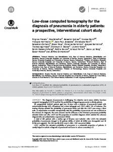 Low-dose computed tomography for the diagnosis of pneumonia in ...