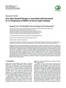 Low-Dose Steroid Therapy Is Associated with Decreased IL-12