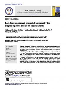 Low-dose unenhanced computed tomography for ... - Semantic Scholar