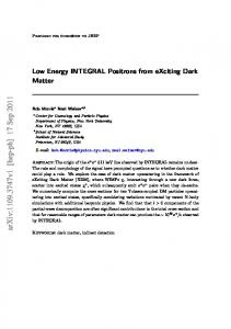 Low Energy INTEGRAL Positrons from eXciting Dark Matter