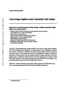 Low-energy negative muon interaction with matter