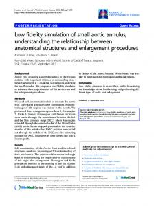Low fidelity simulation of small aortic annulus - Springer Link