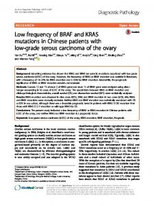 Low frequency of BRAF and KRAS mutations in