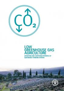 LOW GREENHOUSE GAS AGRICULTURE