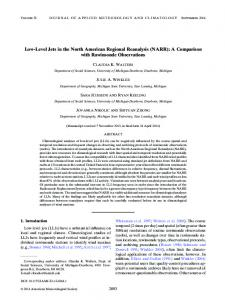 Low-Level Jets in the North American Regional ... - AMS Journals
