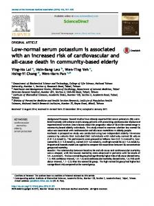 Low-normal serum potassium is associated with an increased ... - Core
