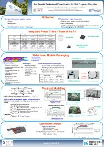 Low Parasitic Packaging of Power Modules for High Frequency ...