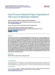 Low Pressure Chemical Vapor Deposition of TiO2 Layer in Hydrogen