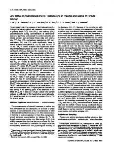 Low Ratio of Androstenedione to Testosterone in ... - Clinical Chemistry