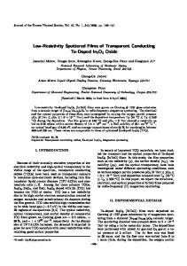 Low-Resistivity Sputtered Films of Transparent Conducting Ta-Doped ...