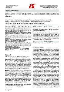 Low serum levels of ghrelin are associated with gallstone ... - CiteSeerX