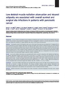 Low skeletal muscle radiation attenuation and ... - Wiley Online Library