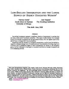 Low-Skilled Immigration and the Labor Supply of Highly ... - inesad