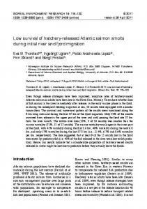low survival of hatchery-released atlantic salmon smolts during initial ...