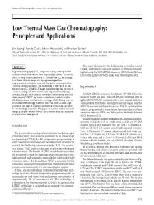 Low Thermal Mass Gas Chromatography: Principles and Applications