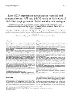 Low VEGF expression in conceptus material and maternal ... - CiteSeerX