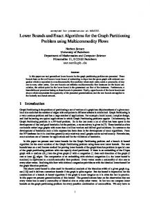 Lower Bounds and Exact Algorithms for the Graph ... - Semantic Scholar