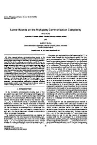 Lower Bounds on the Multiparty Communication Complexity