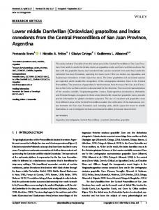 Lower middle Darriwilian (Ordovician ... - Wiley Online Library