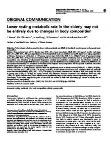 Lower resting metabolic rate in the elderly may not be entirely due to ...
