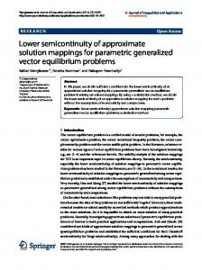 Lower semicontinuity of approximate solution ... - Springer Link