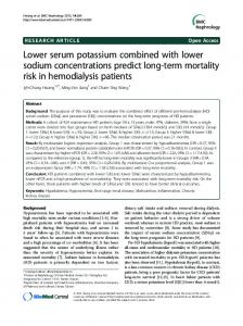Lower serum potassium combined with lower sodium concentrations ...