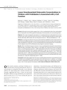 Lower Uncarboxylated Osteocalcin Concentrations in Children with