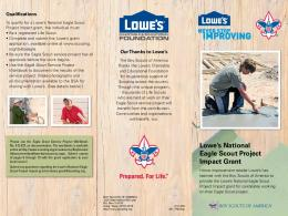 Lowe's National Eagle Scout Project Impact Grant
