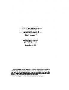 LPI 101 Certification Workbook - [668K Download] - Linux ...