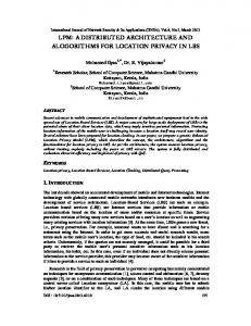 lpm: a distributed architecture and alogorithms for ... - Semantic Scholar