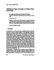 LRS Bianchi Type-I Universe in Creation-Field Cosmology