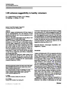 LSD enhances suggestibility in healthy volunteers