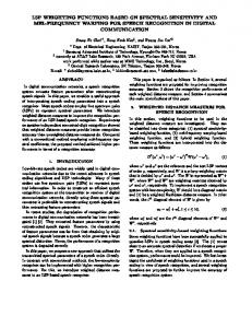 LSP Weighting Functions Based on Spectral Sensitivity and Mel ...