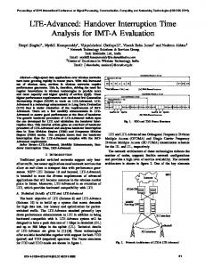 LTE-Advanced: Handover Interruption Time Analysis for ... - IEEE Xplore